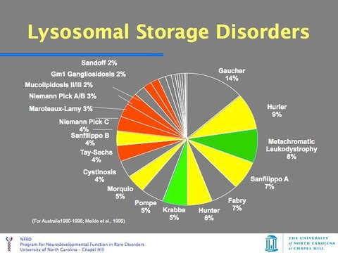 MORE ABOUT SPECIFIC LYSOSOMAL DISEASES…